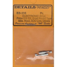DETAILS WEST EB-336 - DIESEL LOCOMOTIVE ELECTRONIC BELL - PRIME 516 EB - SMALL ROUND TYPE