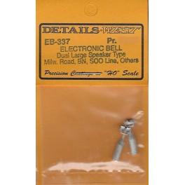 DETAILS WEST EB-337 - DIESEL LOCOMOTIVE ELECTRONIC BELL - DUAL LARGE SPEAKER TYPE