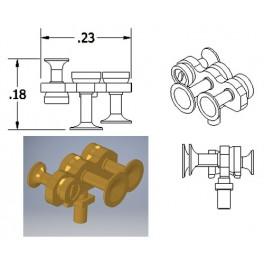 CAL-SCALE 190-670 - DIESEL LOCOMOTIVE NATHAN AIR HORN - M3HR4