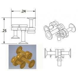 CAL-SCALE 190-672 - DIESEL LOCOMOTIVE NATHAN AIR HORN - M3R2