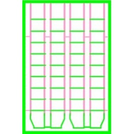 BLACK CAT BC306 - CANADIAN NATIONAL LADDERS - 9 RUNG FOR 8 HATCH REEFERS