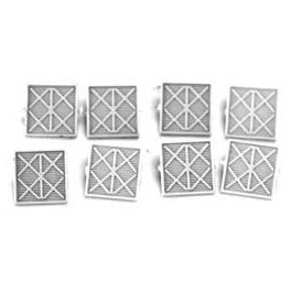 """CAL-SCALE 190-750 - DIESEL LOCOMOTIVE RS3 """"X"""" AIR FILTERS - HO SCALE"""