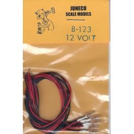 JUNECO B-123 - 12 VOLT BULBS - CLEAR