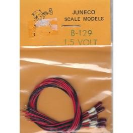 JUNECO B-129 - 1.5 VOLT BULBS - RED