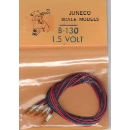 JUNECO B-130 - 1.5 VOLT BULBS - AMBER