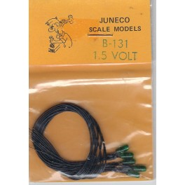 JUNECO B-131 - 1.5 VOLT BULBS - GREEN