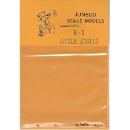 """JUNECO B-5 - 4 3/4"""" JEWELS - AMBER"""