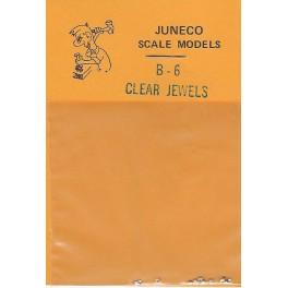 "JUNECO B-6 - 4 3/4"" JEWELS - CLEAR"
