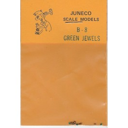 """JUNECO B-8 - 4 3/4"""" JEWELS - GREEN"""