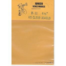 "JUNECO B-11 - 4 1/2"" JEWELS - CLEAR"