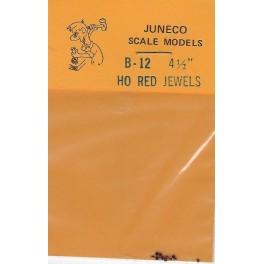 "JUNECO B-12 - 4 1/2"" JEWELS - RED"