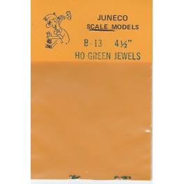 """JUNECO B-13 - 4 1/2"""" JEWELS - GREEN"""