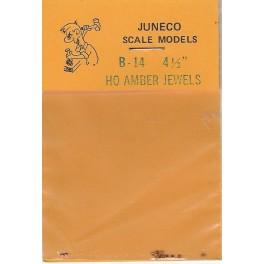 """JUNECO B-14 - 4 1/2"""" JEWELS - AMBER"""