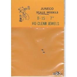 "JUNECO B-15 - 7"" JEWELS - CLEAR"