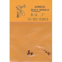 "JUNECO B-16 - 7"" JEWELS - RED"