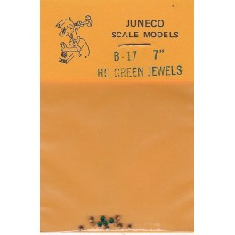 """JUNECO B-17 - 7"""" JEWELS - GREEN"""