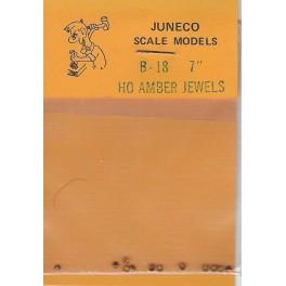 """JUNECO B-18 - 7"""" JEWELS - AMBER"""