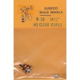 "JUNECO B-20 - 14 1/2"" JEWELS - CLEAR"