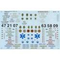 MICROSCALE DECAL 48-510 - EMERGENCY VEHICLES - O SCALE