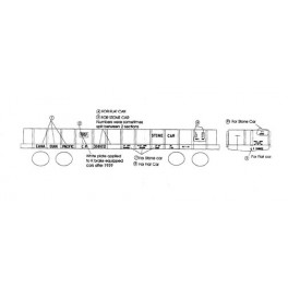 BLACK CAT DECAL - BC001-O - CANADIAN PACIFIC 40' FLAT CAR - O SCALE
