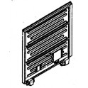 DETAILS WEST SD-168 - 10 PULLMAN-STANDARD SLIDING DOOR FOR ATHEARN RAILBOX - HO SCALE