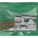 DETAILS WEST CC-1026 - SCALE CUSHION DRAFT GEAR - WIDE MOUTH - HO SCALE