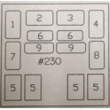AMB 230 - LOCOMOTIVE WINDOW SET - ATHEARN GP/SD - HO SCALE
