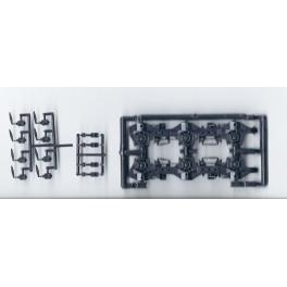 DETAIL ASSOCIATES 3515 - DIESEL LOCOMOTIVE TRUCK SIDEFRAMES - EMD HTC WITH ROLLER BEARINGS - HO SCALE
