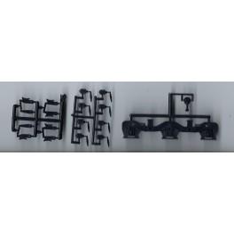 DETAIL ASSOCIATES 3509 - DIESEL LOCOMOTIVE TRUCK SIDEFRAMES - GE 'GSC' DASH 8 - HO SCALE