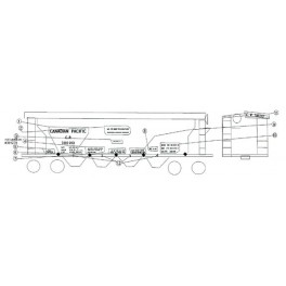 BLACK CAT DECAL - BC005 - CANADIAN PACIFIC COVERED HOPPER