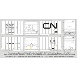 HIGHBALL F-396 CANADIAN NATIONAL TRENTON 5277cuft 50' BOXCARS - HO SCALE