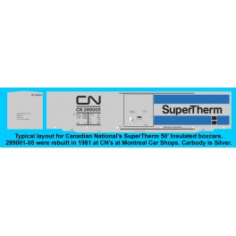 HIGHBALL FN-436 CN SUPERTHERM INSULATED 50' BOXCAR - N SCALE