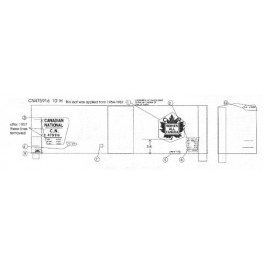 BLACK CAT DECAL - BC112-O - CANADIAN NATIONAL 40' BOXCAR - 10'IH - O SCALE