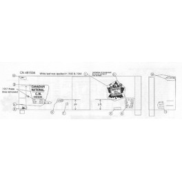 BLACK CAT DECAL - BC113-O - CANADIAN NATIONAL 40' BOXCAR - 10'IH - O SCALE