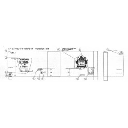 """BLACK CAT DECAL - BC116-O - CANADIAN NATIONAL 40' BOXCAR - 10'6""""IH - O SCALE"""