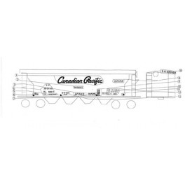 BLACK CAT DECAL - BC007 - CANADIAN PACIFIC COVERED HOPPER - HO SCALE