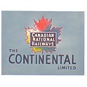 TOMAR H-153 - CANADIAN NATIONAL CONTINENTAL LIMITED TAILSIGN - HO SCALE