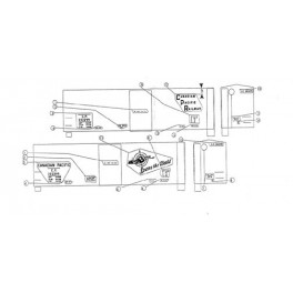BLACK CAT DECAL - BC012-N - CANADIAN PACIFIC 40' BOXCAR - 9'4'IH - N SCALE