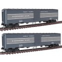 WALTHERS 932-24156 - NEW YORK CENTRAL EX-TROOP SLEEPER EXPRESS CAR 9533 AND 9587 - HO SCALE