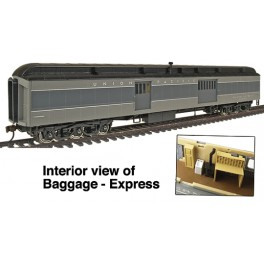 WALTHERS 932-10505 - ACF 70' HEAVYWEIGHT BAGGAGE CAR - UNION PACIFIC GRAY - HO SCALE