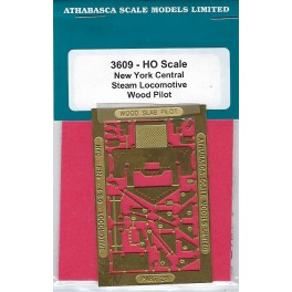 ATHABASCA SCALE MODELS 3609 - NEW YORK CENTRAL STEAM LOCOMOTIVE WOOD PILOT KIT - HO SCALE
