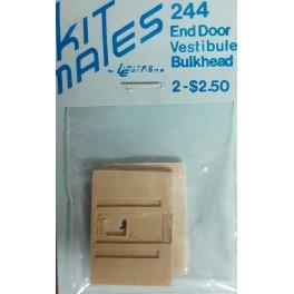 LIMITED EDITIONS 244 - END DOOR VESTIBULE BULKHEAD - HO SCALE