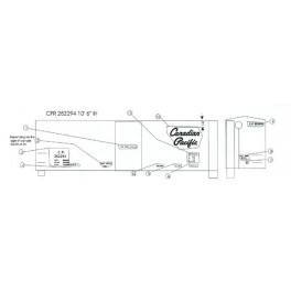 """BLACK CAT DECAL - BC016 - CANADIAN PACIFIC 40' BOXCAR - 10'6""""IH - HO SCALE"""