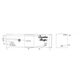"BLACK CAT DECAL - BC019 - CANADIAN PACIFIC 40' BOXCAR - 10'6""IH"