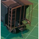 BLACK CAT BC330 - CANADIAN PACIFIC CANADIAN STYLE LADDERS - 7 RUNG FOR 10' IH STEEL CARS - HO SCALE
