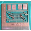 BLACK CAT BC340 - CANADIAN PACIFIC WOOD CABOOSE LADDERS - HO SCALENDOW FRAMES & GLASS - HO SCALE