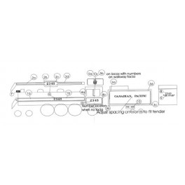 BLACK CAT DECAL - BC050-O - CANADIAN PACIFIC STEAM LOCOMOTIVE
