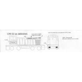 BLACK CAT DECAL - BC052 - CANADIAN PACIFIC DIESEL LOCOMOTIVE - HO SCALE