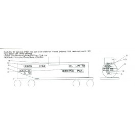 BLACK CAT DECAL - BC058 - NORTH STAR OIL TANK CAR