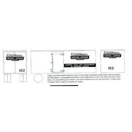 BLACK CAT DECAL - BC061 - MANITOBA CARTAGE & STORAGE TRAILER